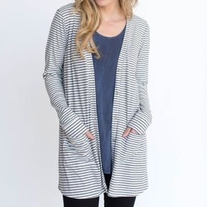 New Ribbed Favorite Cardi by Agnes & Dora Large